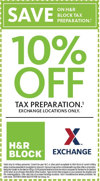 Soldiers, Airmen Get 10% Off Tax Preparation Services with H&R Block at the Exchange