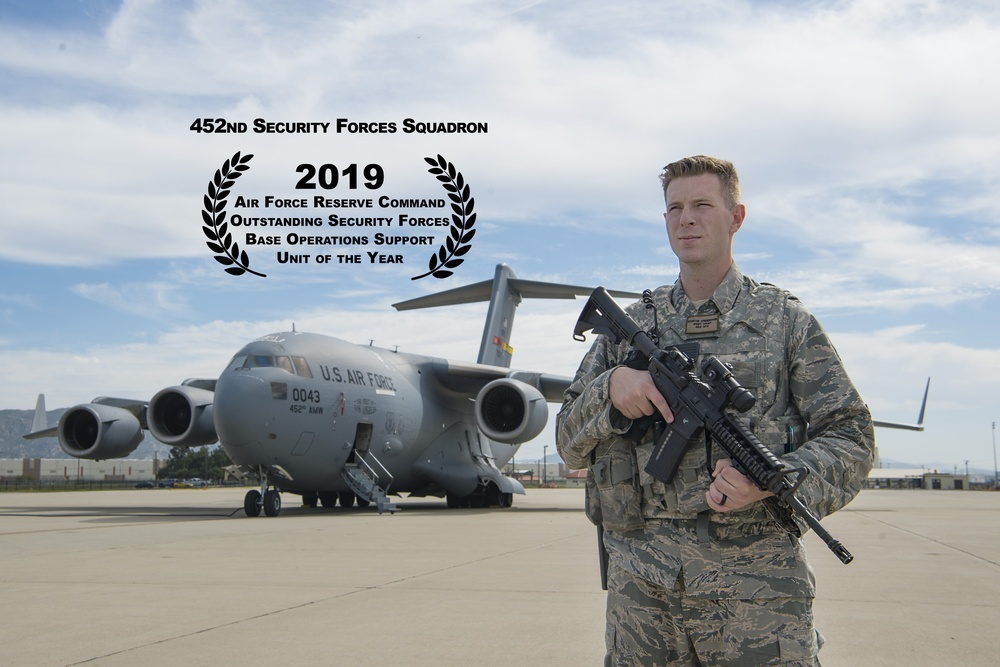 AFRC Names 452nd SFS 2019 Outstanding Unit of the Year