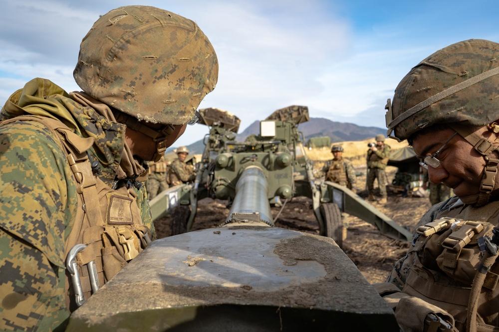 U.S. Marines conduct artillery fires during ARTP 19.4