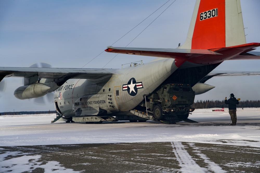 Arctic Edge HIMARS M142 load