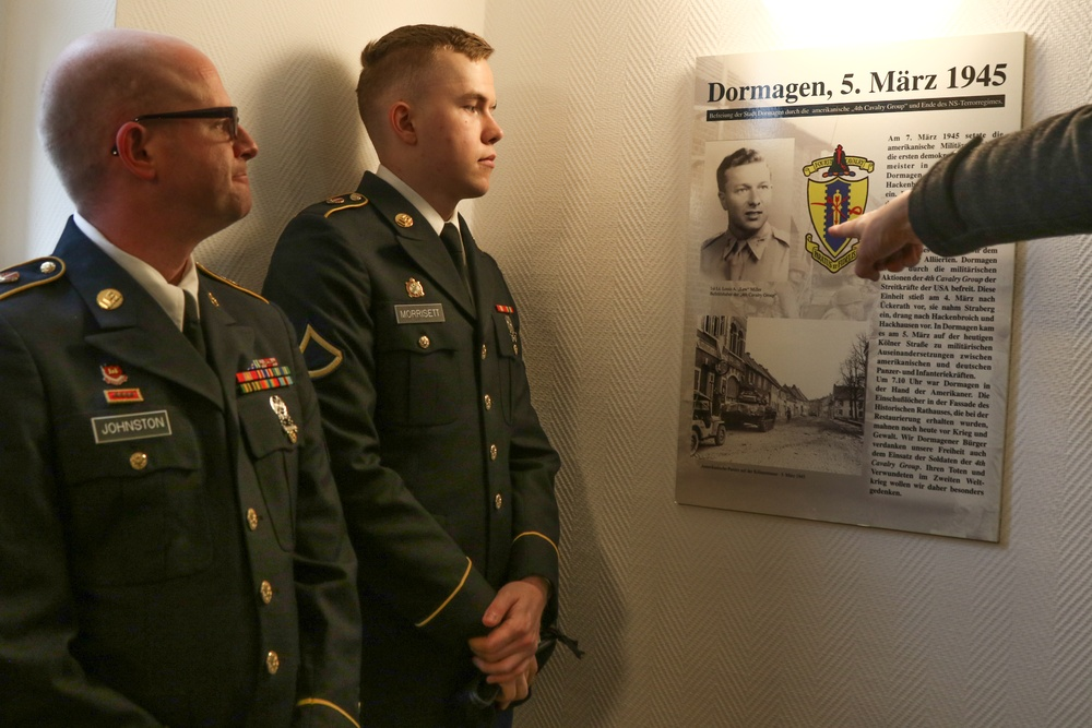 USAREUR Soldiers Participate in Ceremony Commemorating the Arrival of U.S. Forces in Dormagen 75 Years Ago