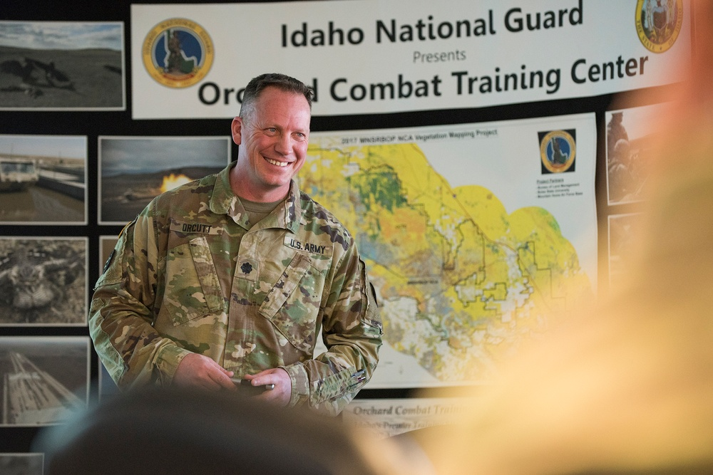 Commanding General of the First Army, Lt. Gen. James, visits Idaho