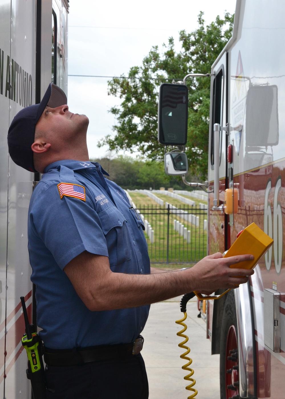 JBSA hazmat team prepares new apparatus for consolidated service
