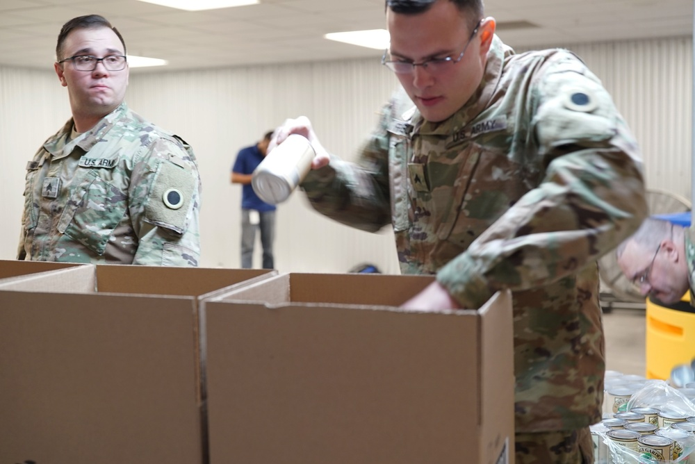 Ohio National Guard supporting Mid-Ohio Foodbank during COVID-19 pandemic