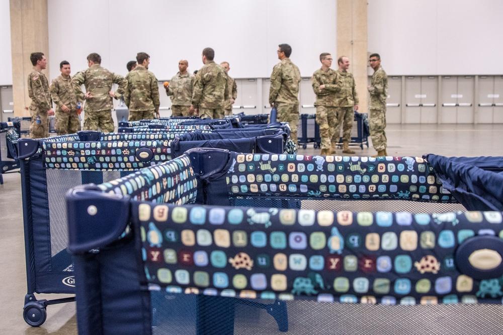 Texas Army National Guard Set up Field Hospital