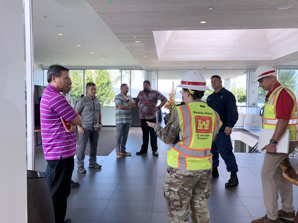 U.S. Army Corps of Engineers evaluate Hawaii county facilities for potential use as alternate-care-sites