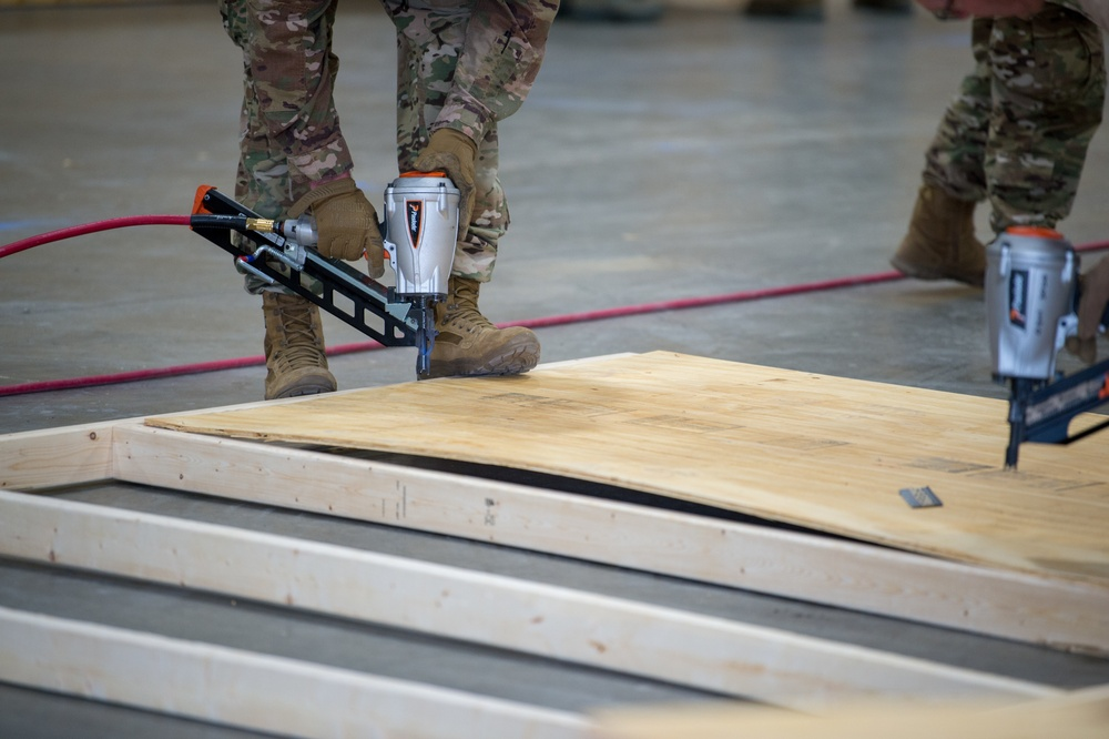Vermont National Guard Builds Medical Surge Facility