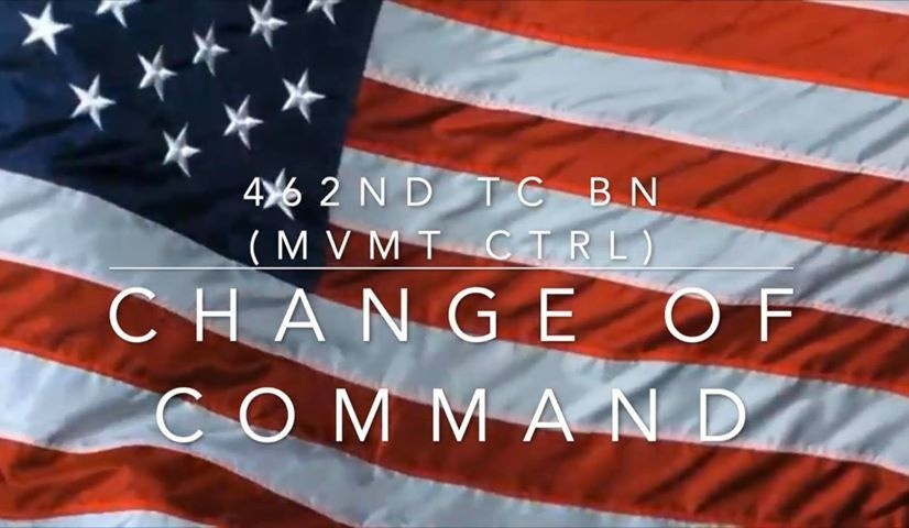 Commanders and Soldiers of the 462nd Transportation Battalion conduct first-ever virtual battle assembly and change of command ceremony during COVID-19