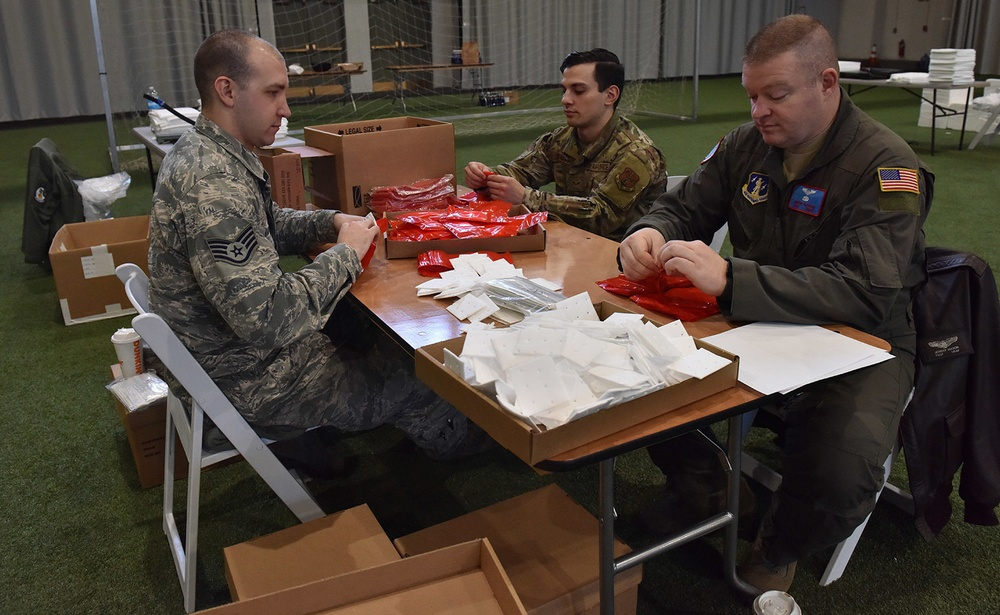NY National Guard Soldiers and Airmen build COVID-19 test kits