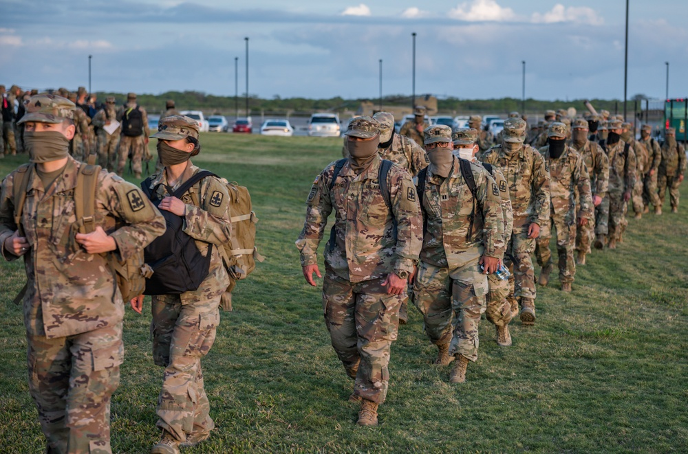 1-487 Field Artillery Return From Deployment