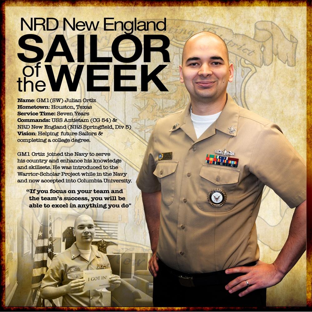 NRD New England Sailor of the Week - Gunner's Mate 1st Class  Julian Ortiz