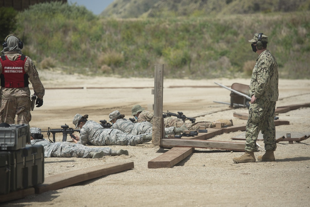 NCG-1 Aids 146th Airlift Wing in Small Arms Range Support During COVID-19 Pandemic