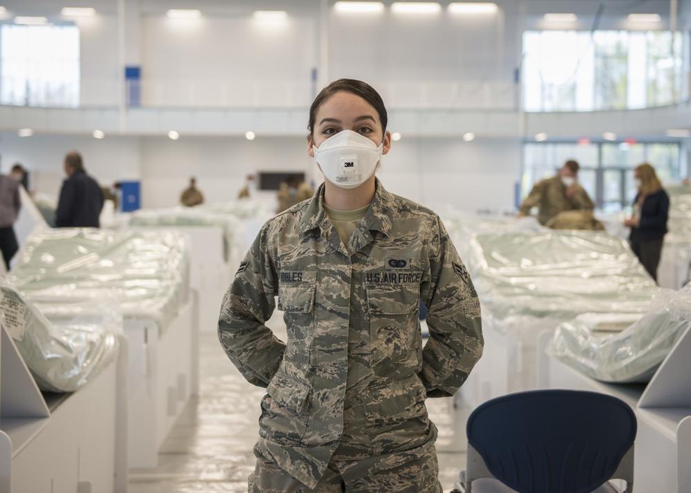 Guardsman supports COVID-19 response at her university
