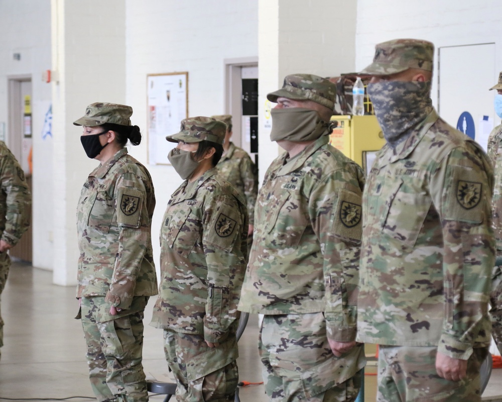 224th STB change of responsibility April 2020