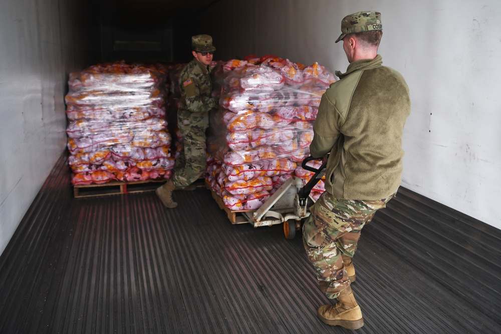 Ohio National Guard distributes food to local communities