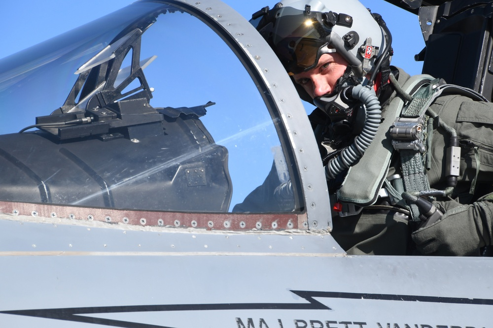 A 104th Fighter Wing Pilot takes off amid COVID-19 and with blue skies up ahead