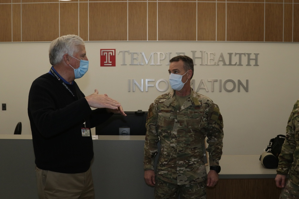 Task Force-Southeast commander surveys Philadelphia COVID-19 response