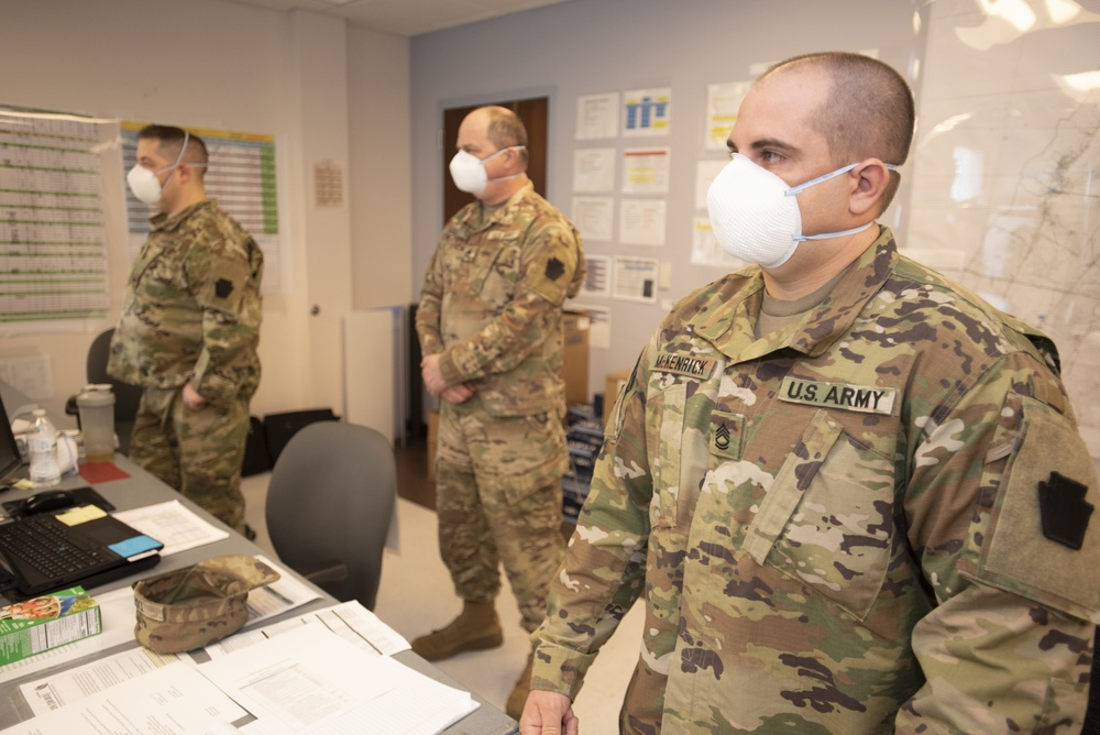 PTF South display proper use of PPE during the Commanders Brief