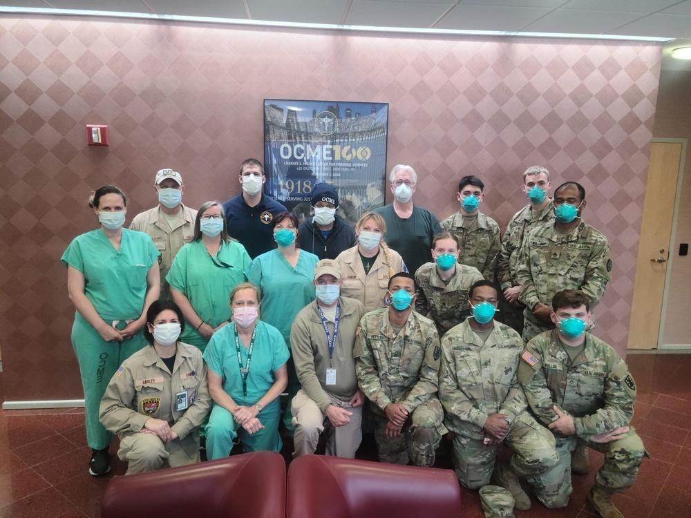 Air Guardsman helps NYC Medical Examiner at COVID-19 epicenter