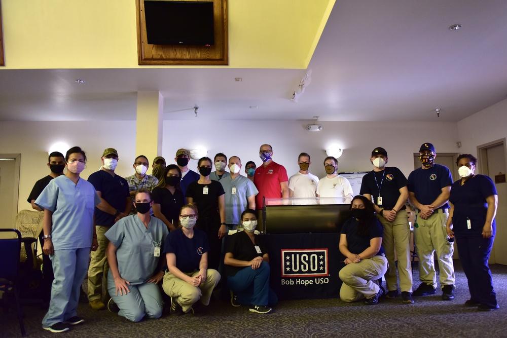 Community rallies around military at Indio testing facility