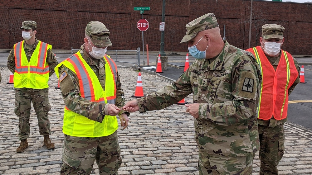 New York National Guard command team visits WNY