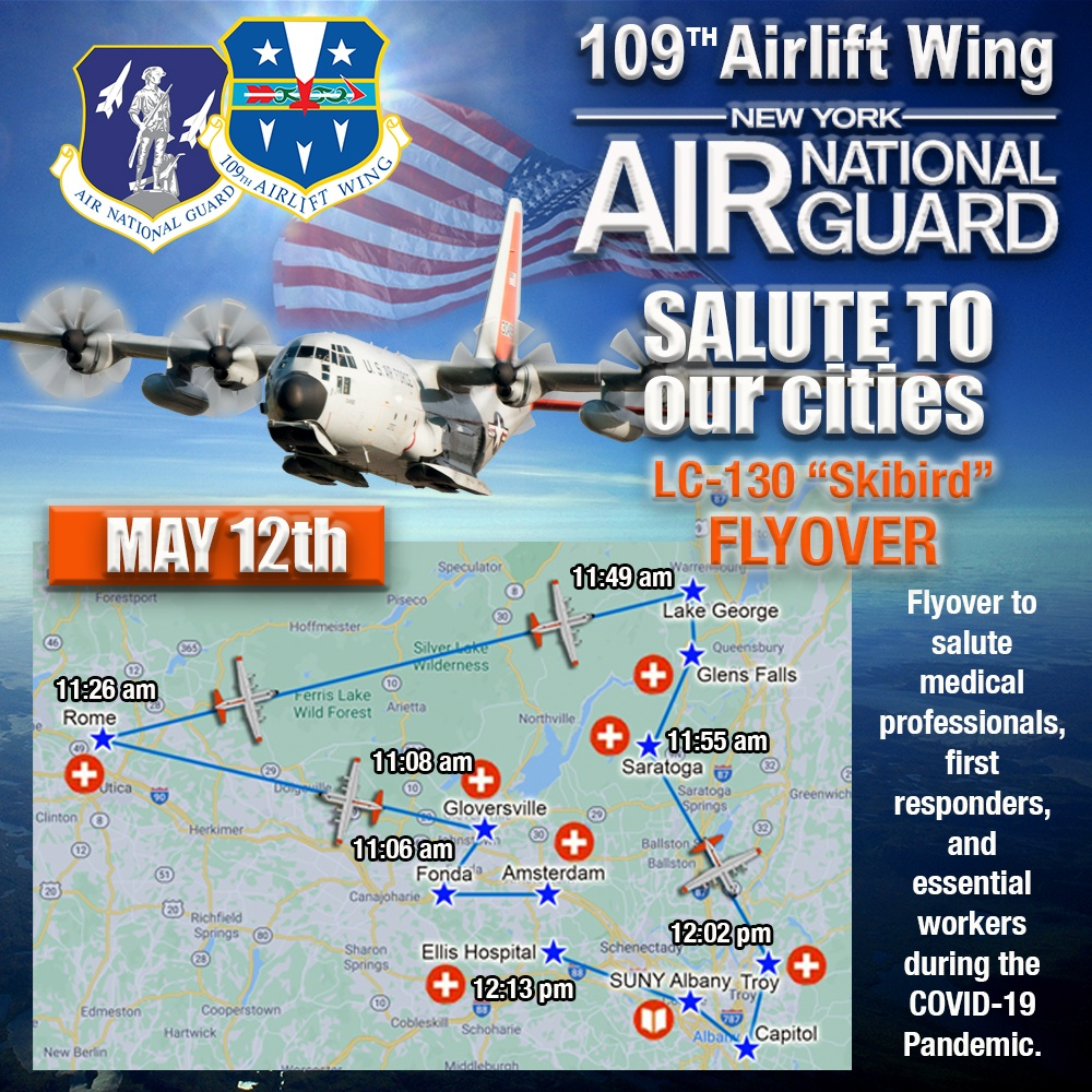 109th Airlift Wing conducts multi-city flyover