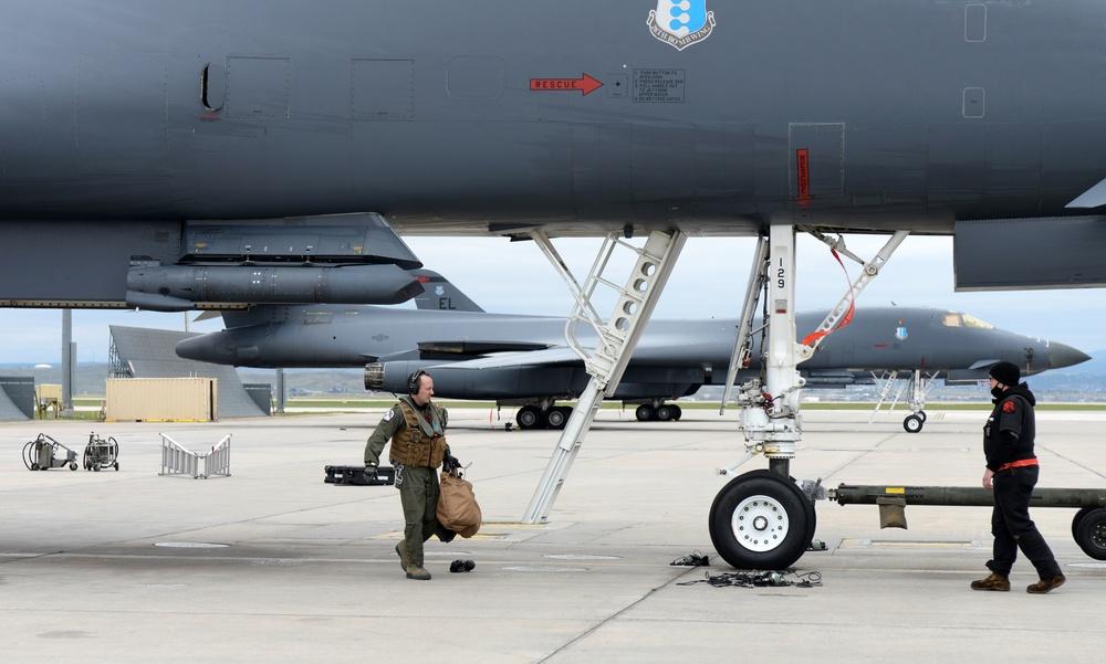 Ellsworth B-1s return to European Theater as part of latest BTF mission