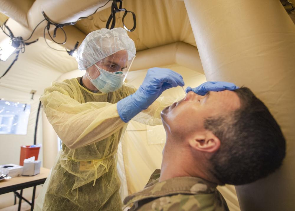 44th Medical Brigade COVID-19 Testing