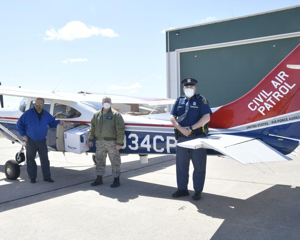 Michigan Civil Air Patrol support Michigan's COVID-19 response