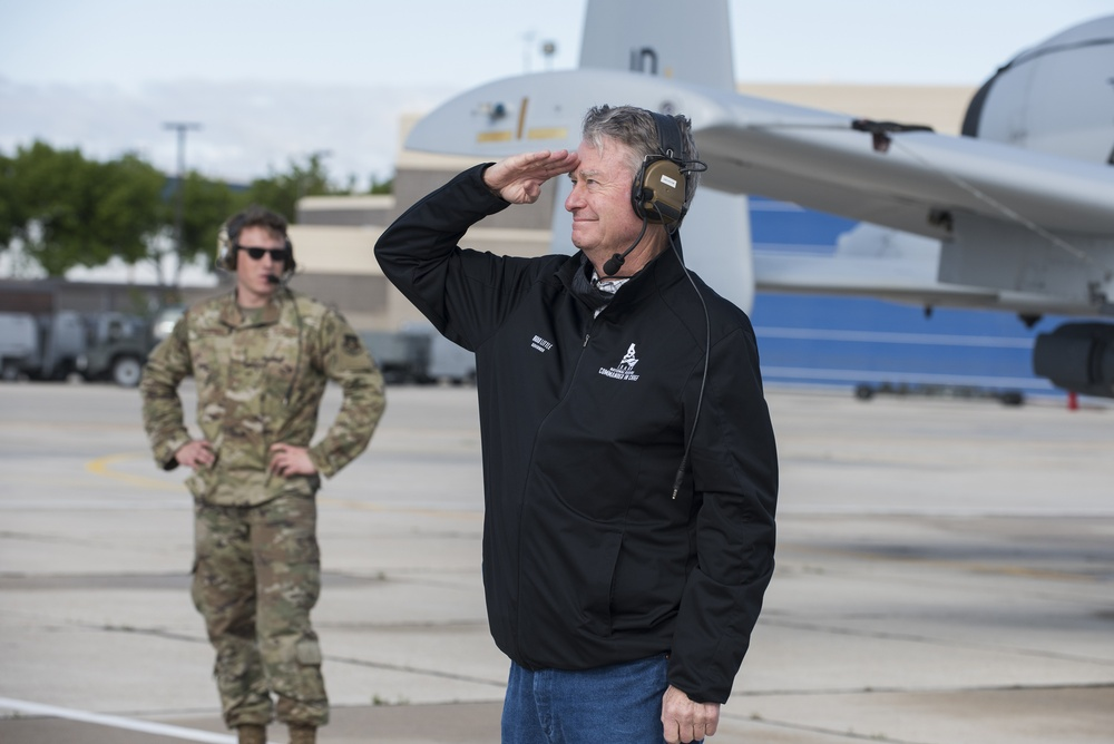 Idaho's commander-in-chief launches A-10 Warthogs that honored essential workers in a statewide fly over