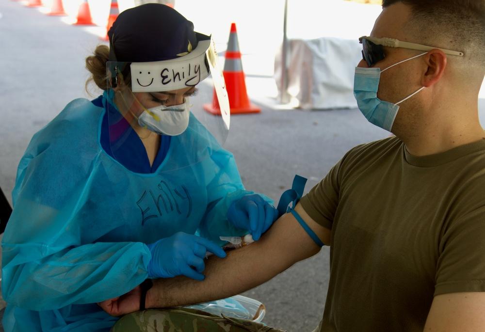 Florida Guardsmen support antibody testing at Community Based Testing Sites in South Florida