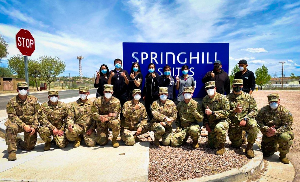 150th Security Forces Squadron has been busy responding to the New Mexico National Guard Joint Task Force COVID-19 response effort.