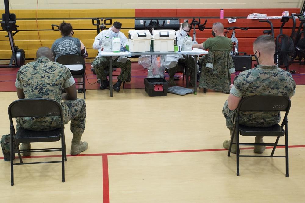 Mission Critical: FMFLANT Marines, Sailors donate blood