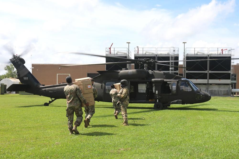 La. Guard preps for TS Cristobal, continues COVID-19 operations