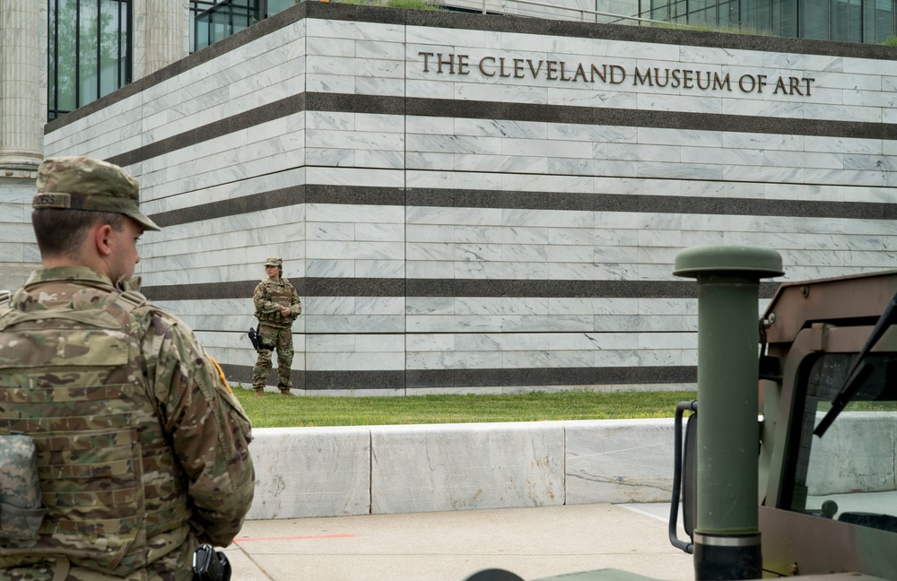 Ohio National Guard provides support to Cleveland Police Department