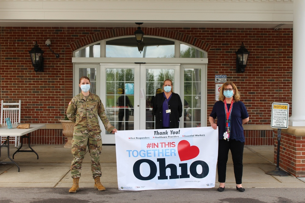 Ohio National Guard supports state veterans home residents, staff with COVID-19 testing