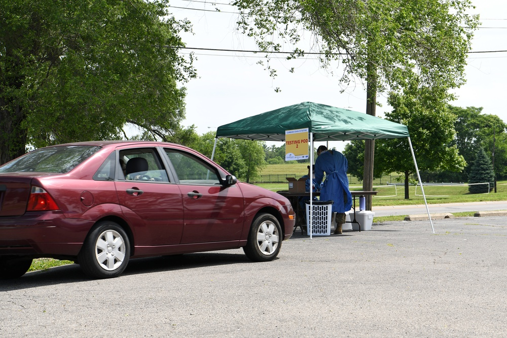 178th Airmen provide COVID-19 testing to local community members
