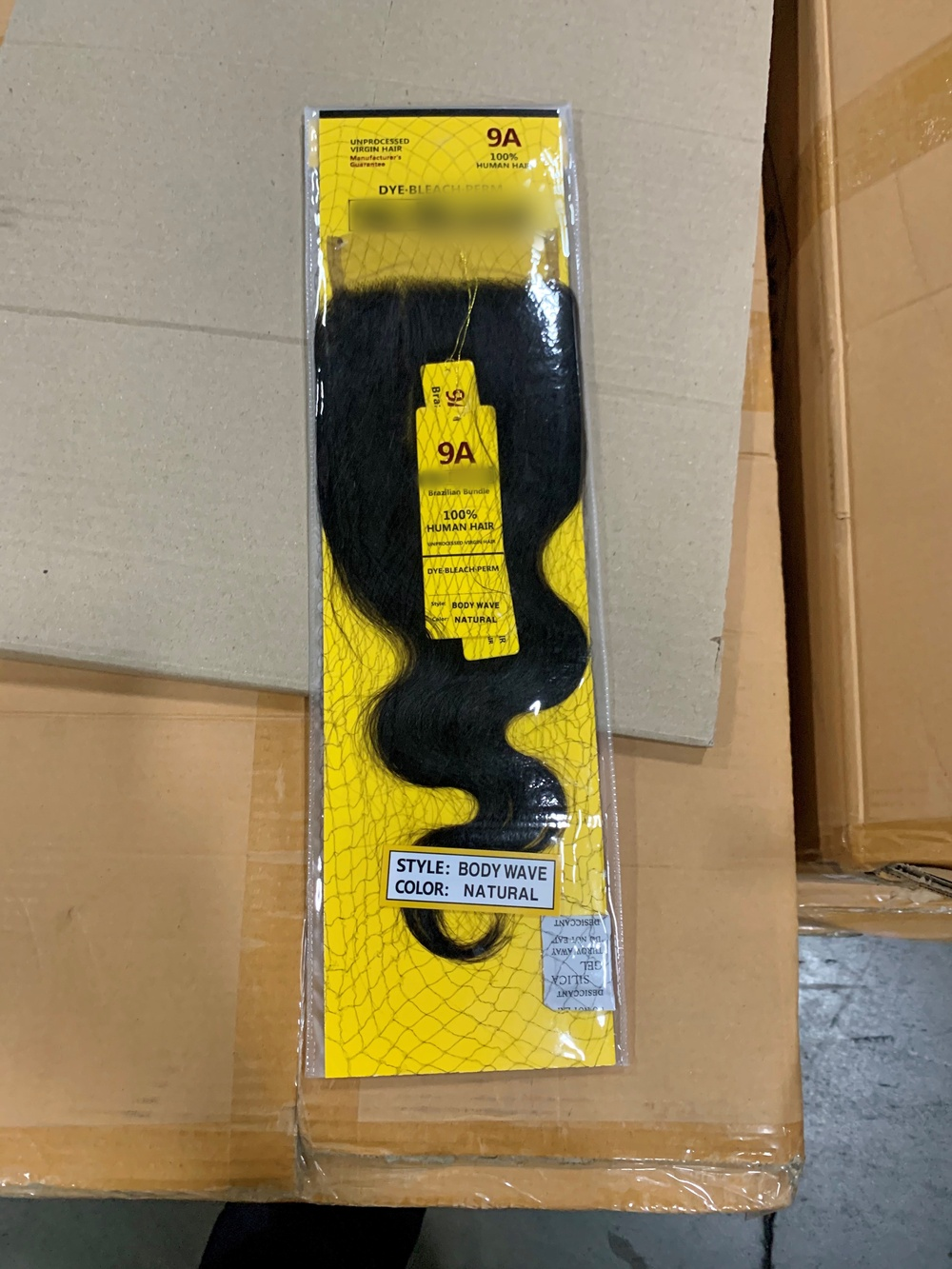 Port of New York/Newark inspect a shipment of hair products from China