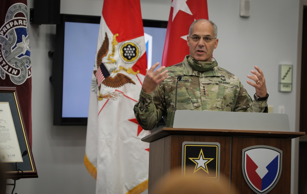 GEN. PERNA THANKS THE ARMY MATERIEL COMMAND WORKFORCE