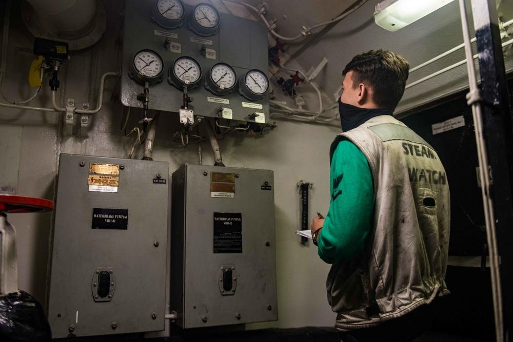 USS Ronald Reagan (CVN 76) Sailors Perform Routine Maintenance Across The Ship