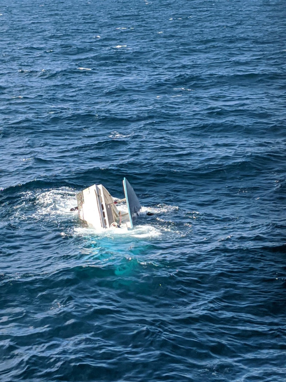 Coast Guard rescues man after commercial fishing boat capsizes