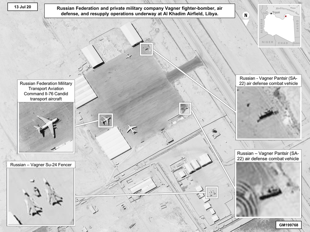 Russia and the Wagner Group continue to be involved in both ground and air operations in Libya