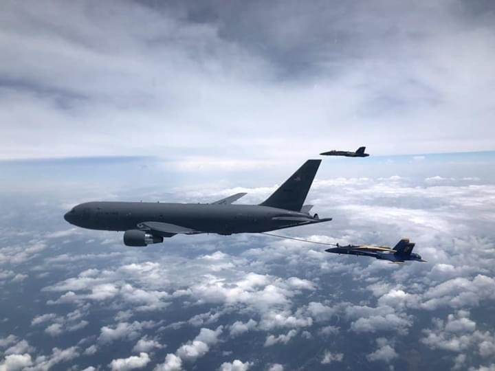 931 ARW refuels Blue Angels for first time with KC-46
