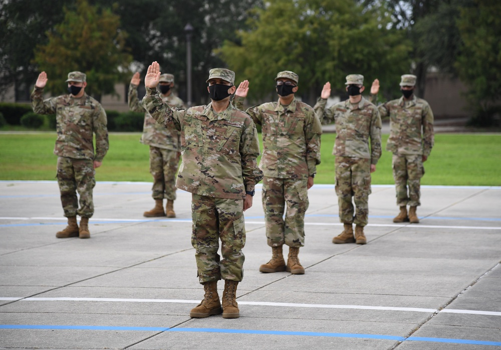 37th Training Wing Detachment 5 Flight 579 graduates BMT