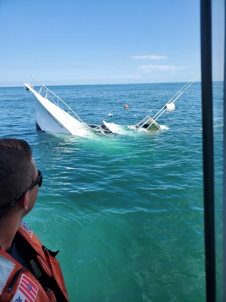 Coast Guard along with Manatee County SheriffOffice, commercial salvage assists 2 after boat takes on water west of Bean Point
