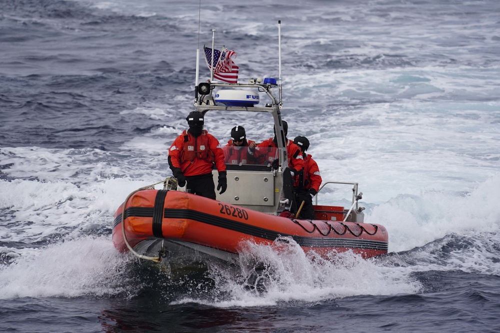 U.S. Coast Guard conducts search and rescue exercise off Greenland
