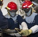 USS Carl Vinson (CVN 70) Sailors Participate In Pipe Patching Drill