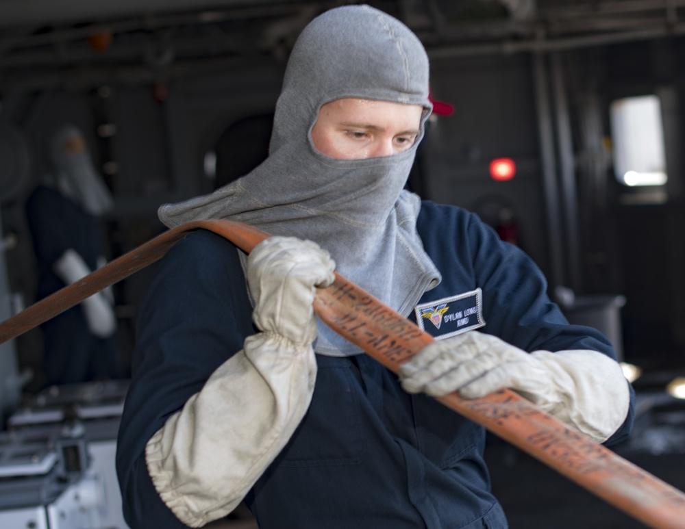 USS Carl Vinson (CVN 70) Sailors Participate In General Quarters Drill