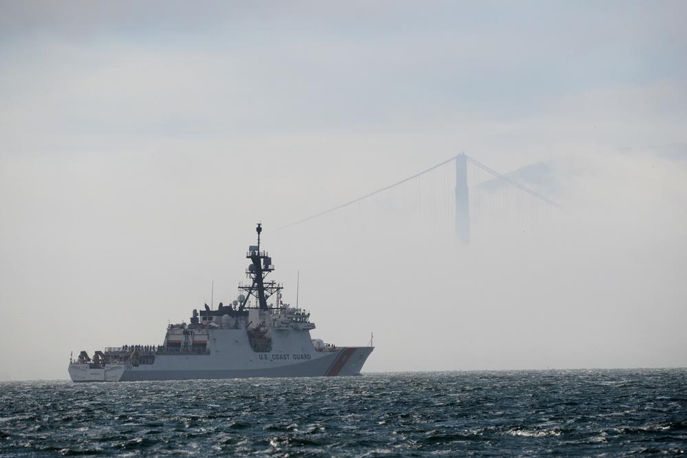 Alameda, California-based Coast Guard cutter departs for Western Pacific patrol