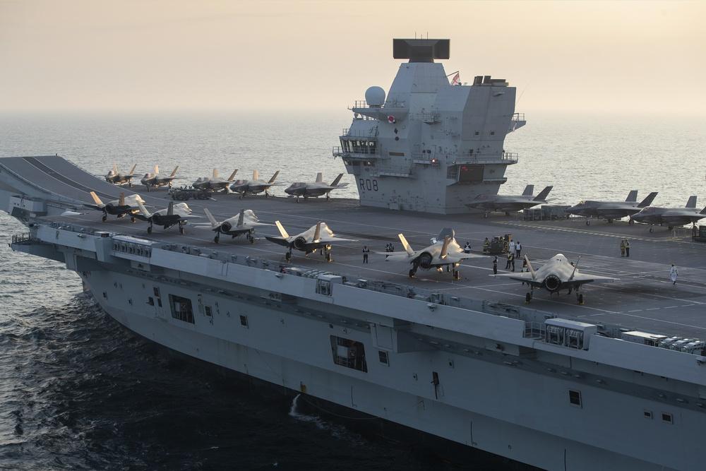 Wake Island Avengers Set Sail Onboard HMS Queen Elizabeth